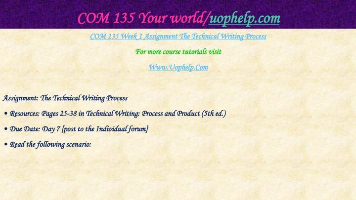 Com 135 your world uophelp com2