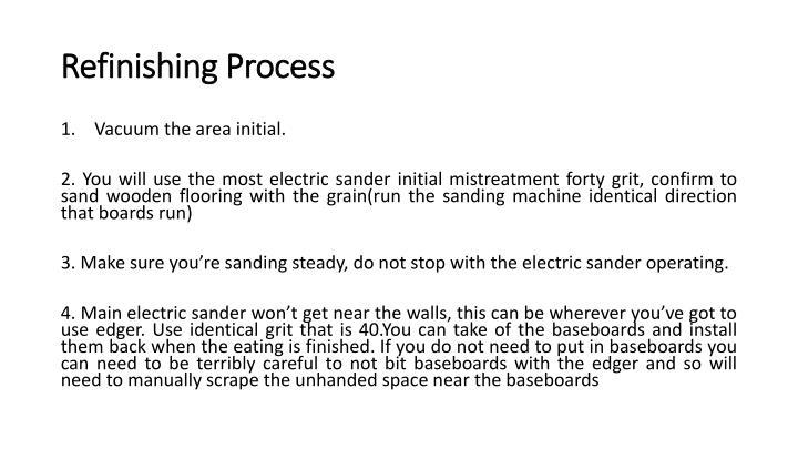 Refinishing Process