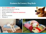 features in luxury dog beds