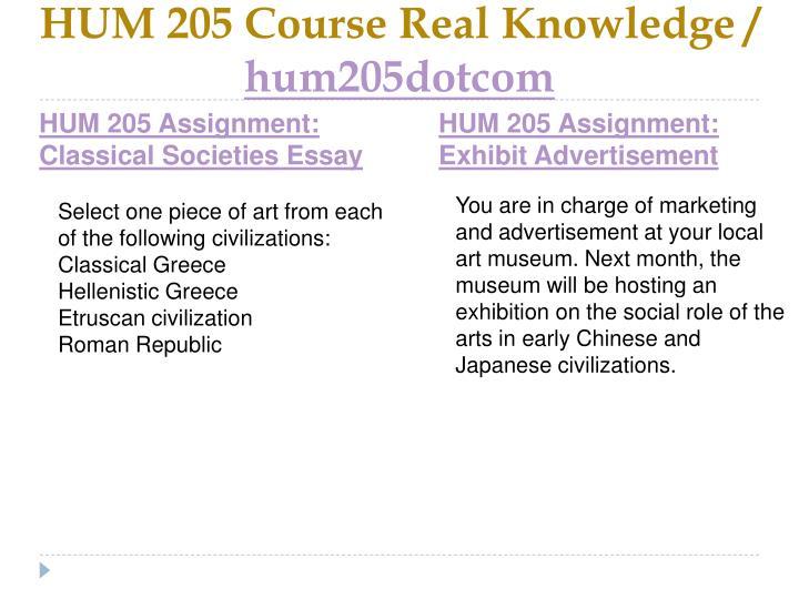 Hum 205 course real knowledge hum205dotcom1