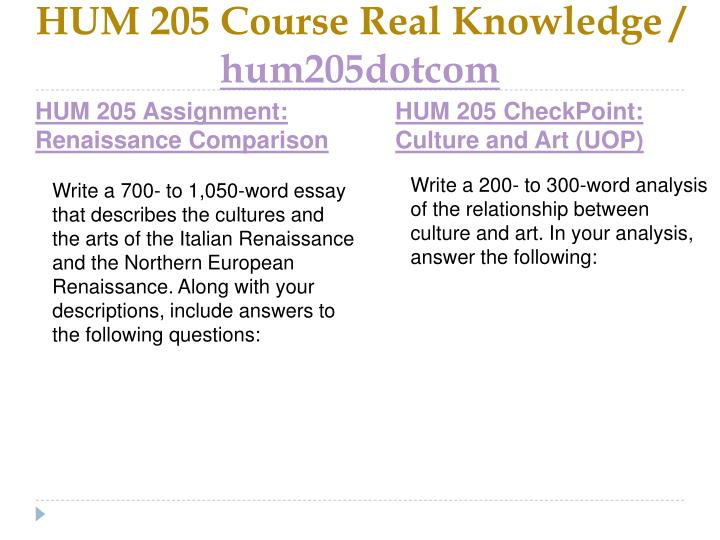 Hum 205 course real knowledge hum205dotcom2