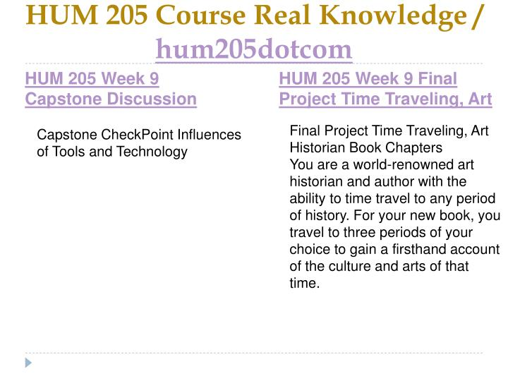 HUM 205 Course Real Knowledge /