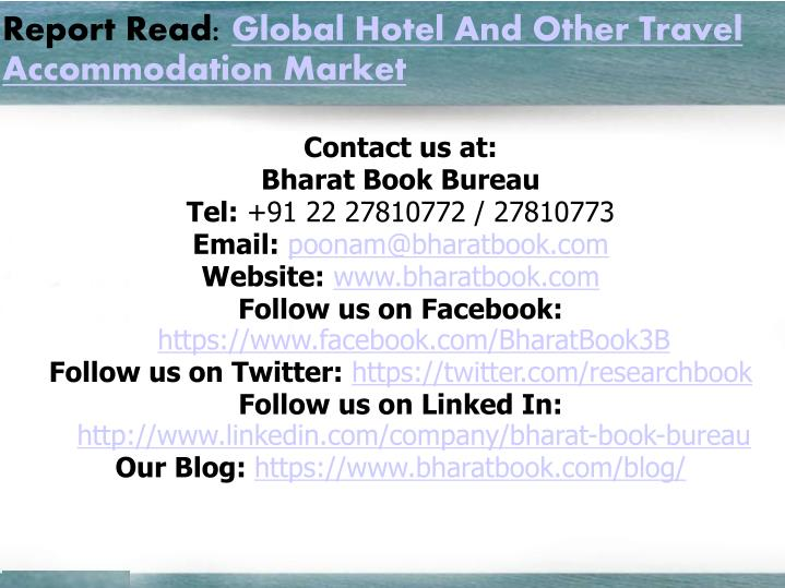 Report Read: Global Hotel And Other Travel