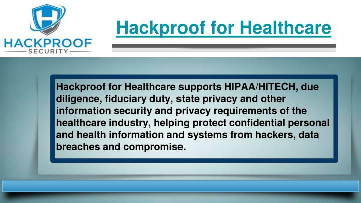 Hackproof for Healthcare