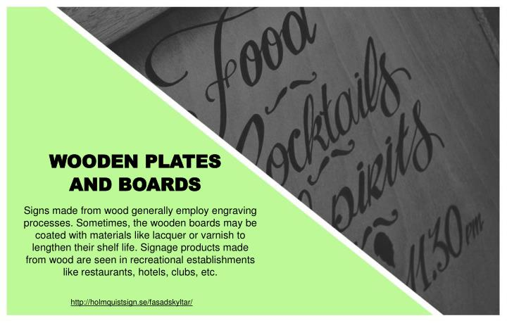 WOODEN PLATES AND BOARDS