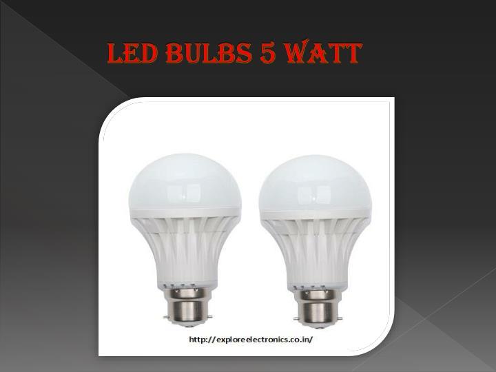 Led Bulbs 5 Watt