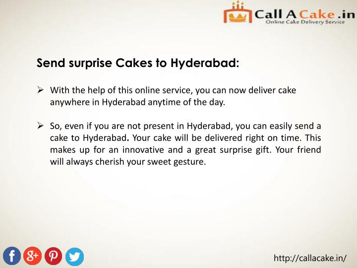 Send surprise Cakes to