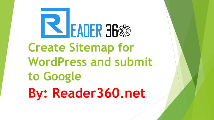 Create sitemap for wordpress and submit to google