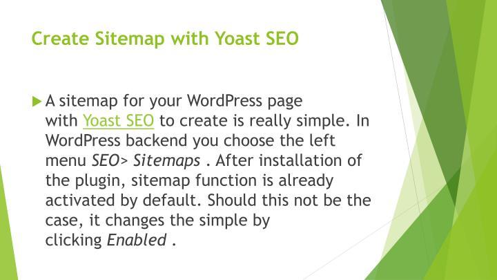 Create Sitemap with Yoast SEO