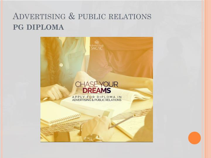Advertising & public relations