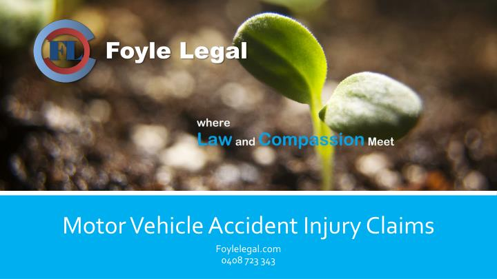 Motor vehicle accident injury claims