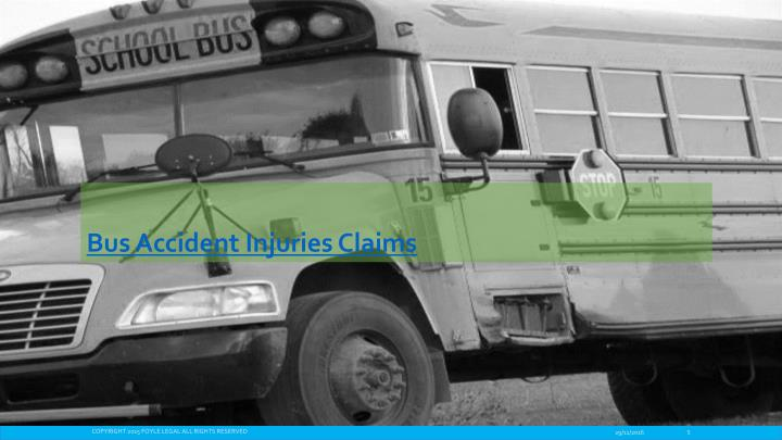 Bus Accident Injuries Claims