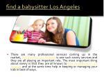 find a babysitter los angeles