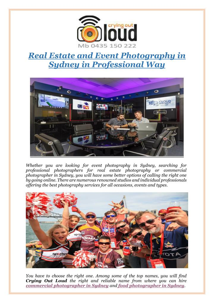 Real Estate and Event Photography in