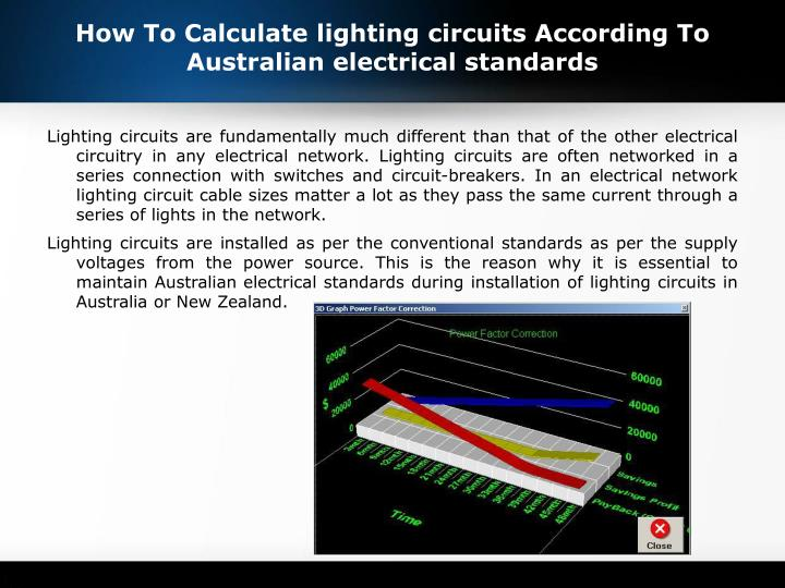 How to calculate lighting circuits according to australian electrical standards