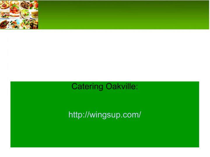 Catering Oakville: