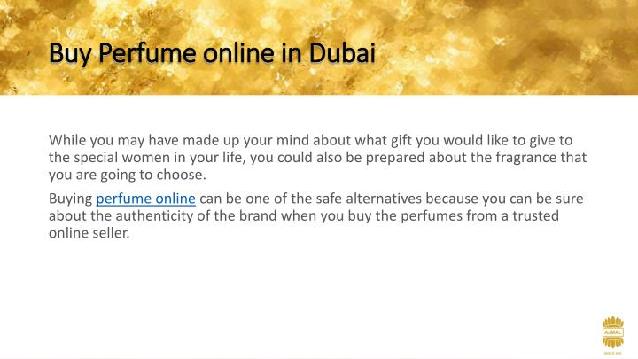 Buy Perfume online in Dubai