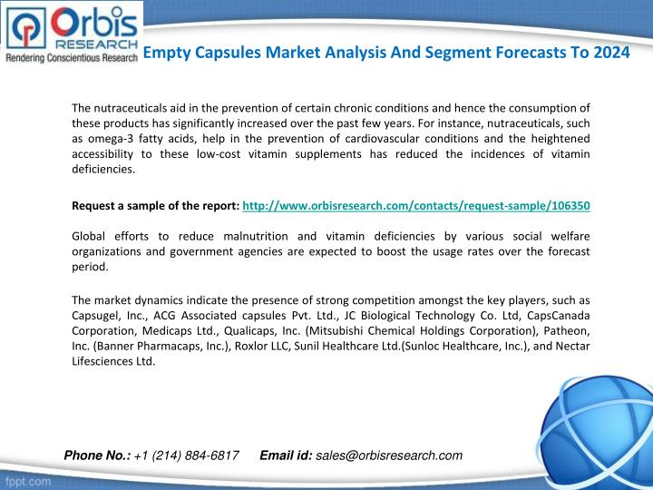 Empty capsules market analysis and segment forecasts to 20242