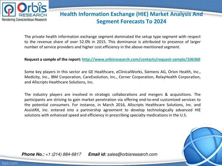 Health information exchange hie market analysis and segment forecasts to 20242