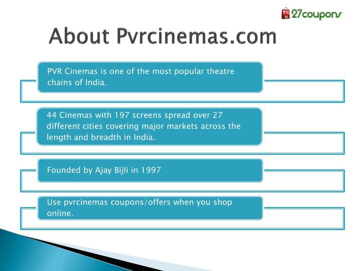 About Pvrcinemas.com