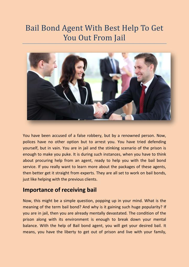 Bail Bond Agent With Best Help To Get