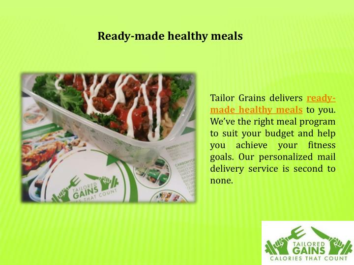 Ready-made healthy meals