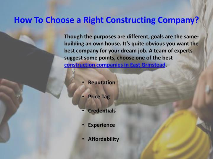 How To Choose a Right Constructing Company?