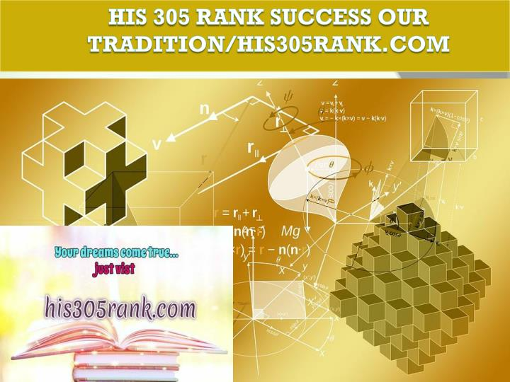his 305 rank success our tradition his305rank com