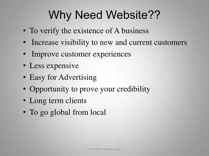 Why Need Website??