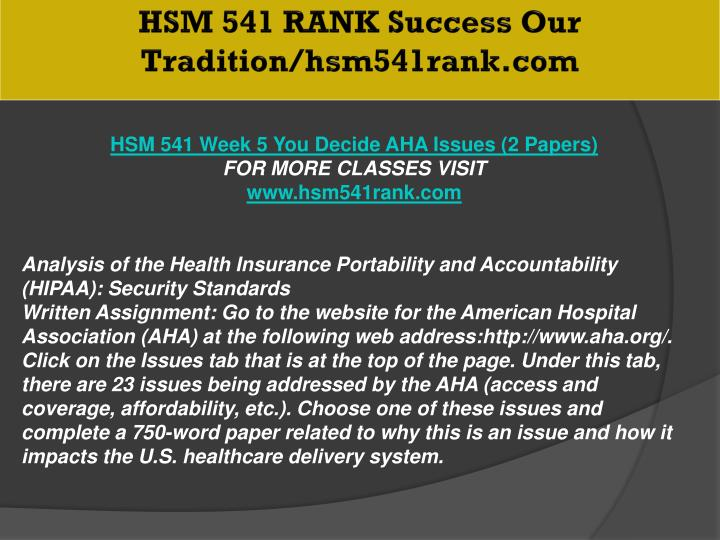HSM 541 RANK Success Our Tradition/hsm541rank.com