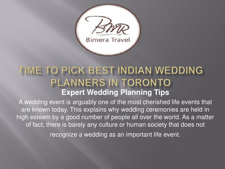 Time to pick best indian wedding planners in toronto