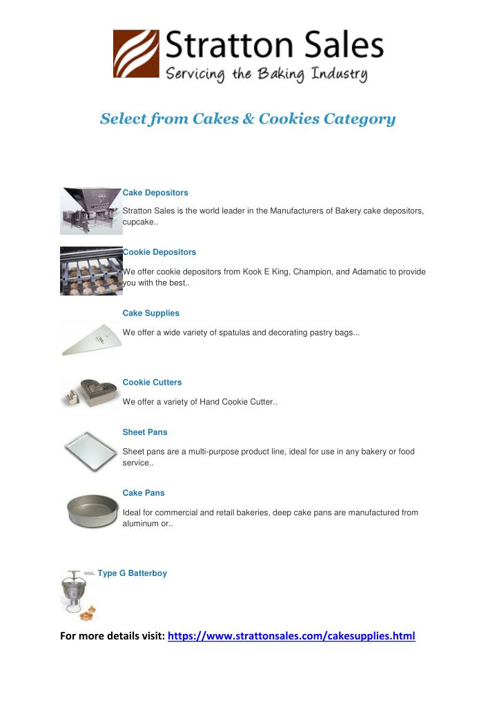 Select from Cakes & Cookies Category