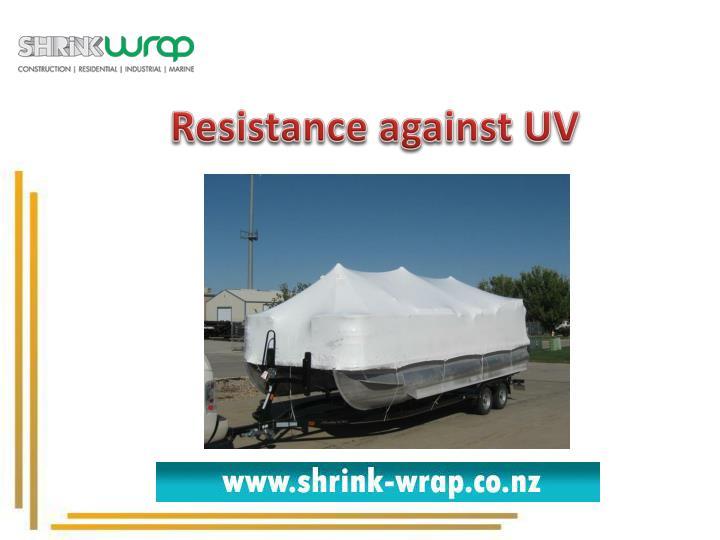 Resistance against UV