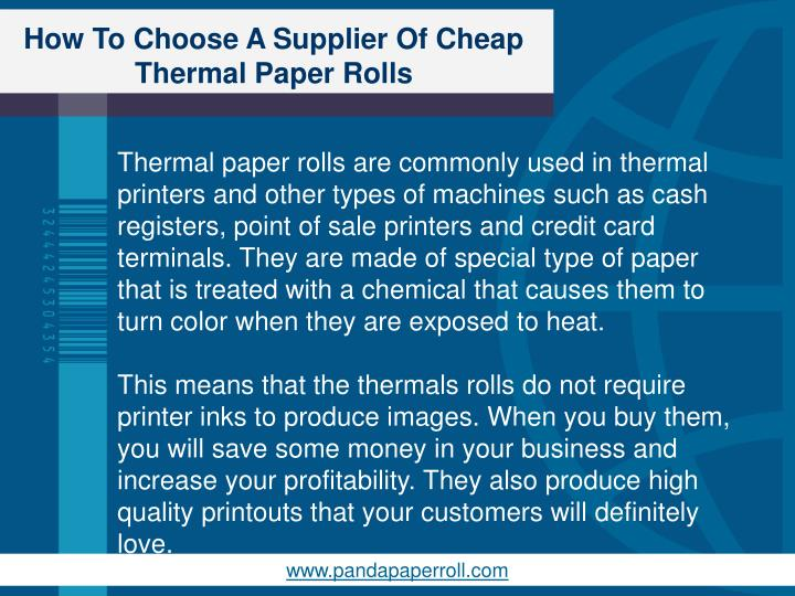 How to choose a supplier of cheap thermal paper rolls1