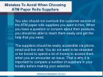 mistakes to avoid when choosing atm paper rolls suppliers4