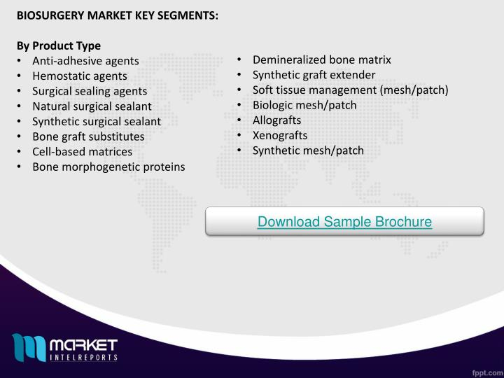 BIOSURGERY MARKET KEY SEGMENTS: