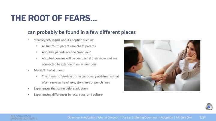 THE ROOT OF FEARS