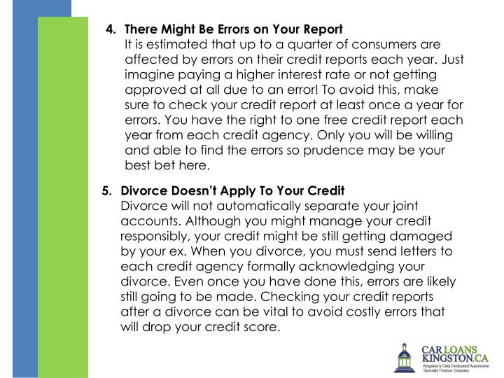 There Might Be Errors on Your Report