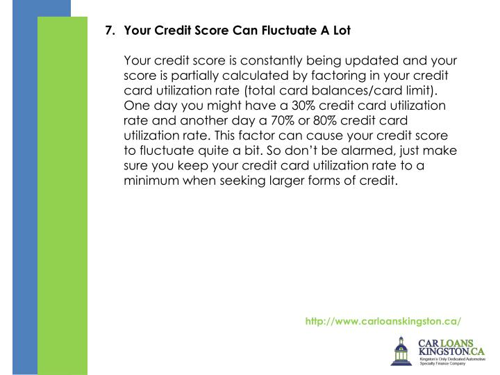 Your Credit Score Can Fluctuate A Lot