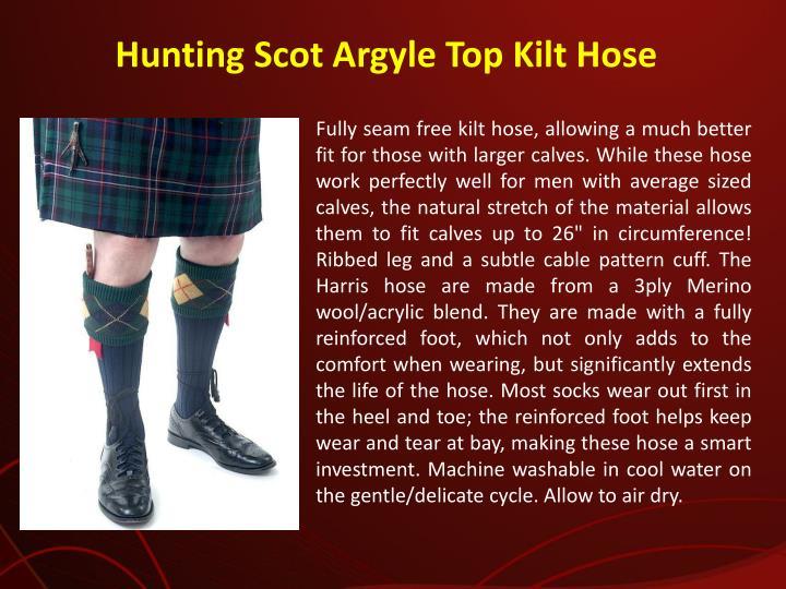 Hunting Scot Argyle Top Kilt Hose