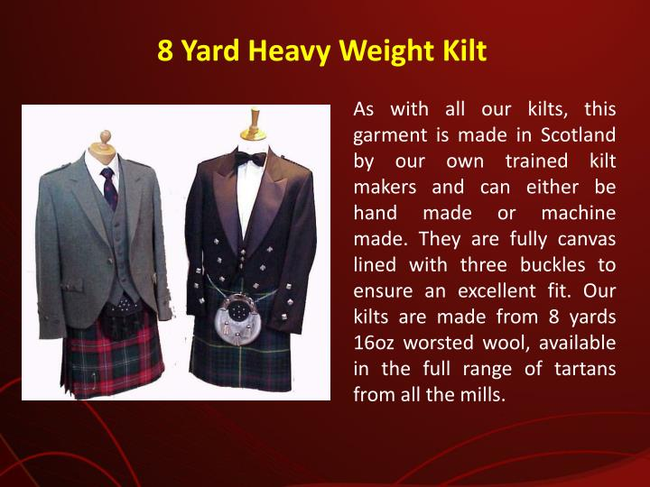 8 Yard Heavy Weight Kilt