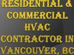 residential commercial hvac contractor in vancouver bc