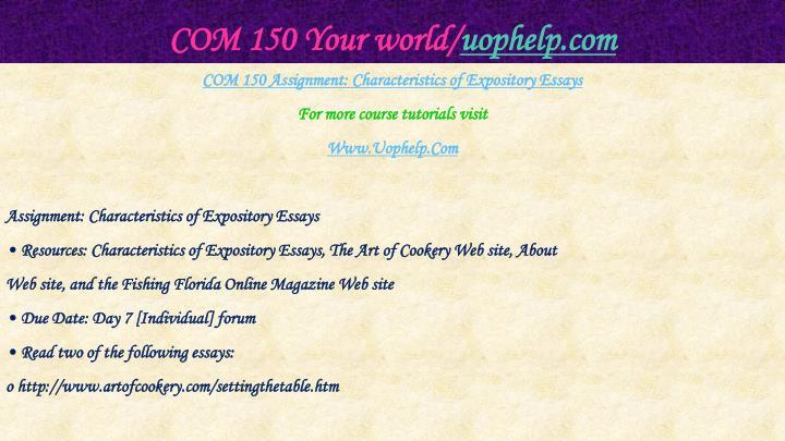 Com 150 your world uophelp com1