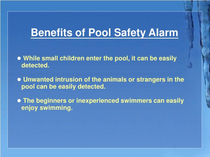 Benefits of Pool Safety Alarm