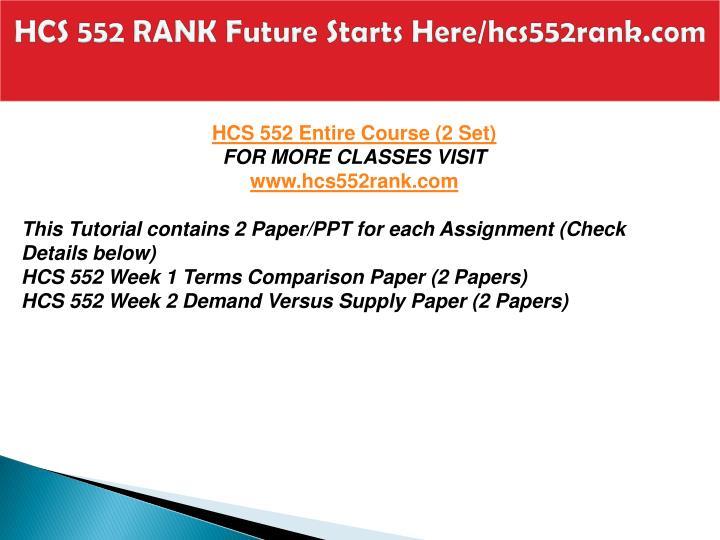Hcs 552 rank future starts here hcs552rank com1