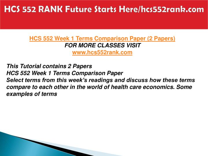 Hcs 552 rank future starts here hcs552rank com2