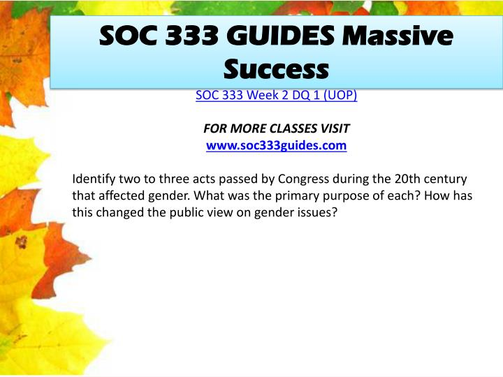 SOC 333 GUIDES Massive Success