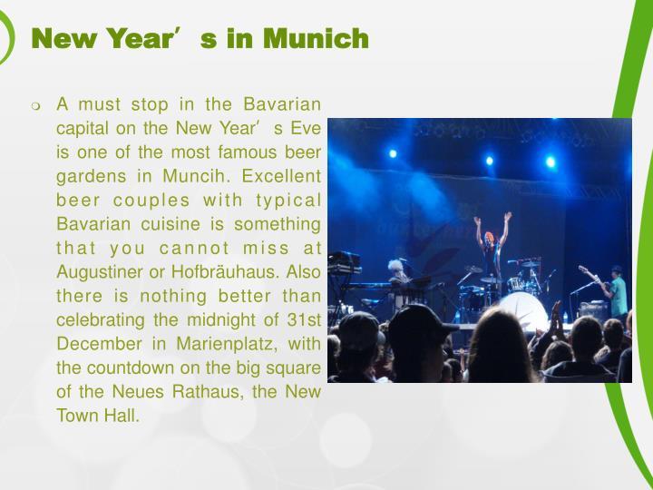 New Year's in Munich