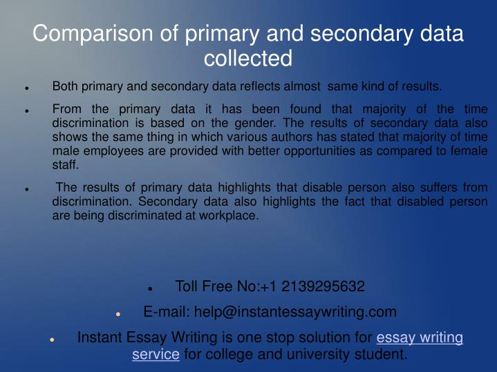 Both primary and secondary data reflects almost  same kind of results.