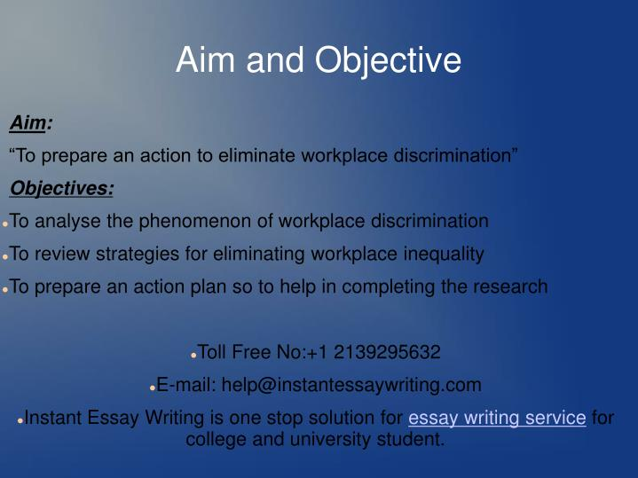 Aim and Objective